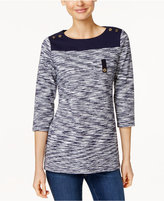 Charter Club Petite Space-Dyed Top, Only at Macy's