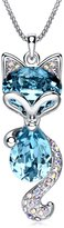 """LadyRosian """"Lucky Fox """" Fashion Jewelry Pendant Love Necklace Made with Swarovski Crystal Elements Best Gifts for Women&Girls"""