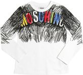 Moschino Scribble Printed Cotton Jersey T-Shirt
