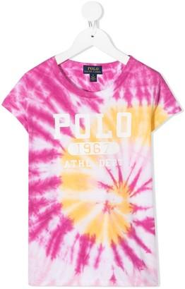 Ralph Lauren Kids tie-dye logo T-shirt