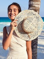 Peter Grimm Beach Bum Straw Boater by at Free People