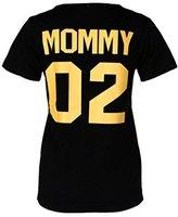 Family Men Women Baby Boy Girls Summer T Shirt,FUNIC Letter Printing Short Sleeve Blouse (Large, Mommy 02)