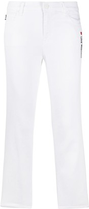Love Moschino Mid-Rise Cropped-Fit Denim Jeans