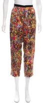 Dries Van Noten Silk Abstract Print Pants