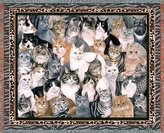 Pure Country Purrfect Cats Woven Throw Blanket