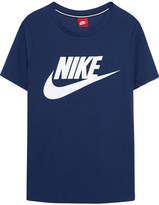 Nike Essential Printed Stretch-jersey T-shirt - Navy