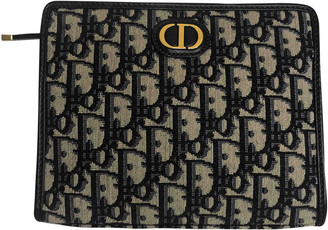 Christian Dior Blue Cloth Clutch bags