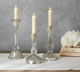 Pottery Barn Eclectic Candlestick - Mercury & Glass