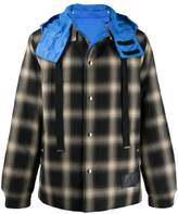 Lanvin reversible check hooded jacket