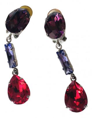 Philippe Ferrandis Pink Metal Earrings