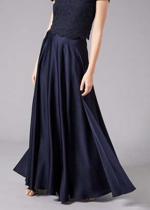 Phase Eight Zoe Satin Maxi Skirt