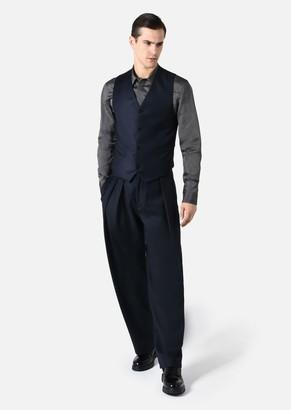 Emporio Armani Waistcoat In Tropical Wool