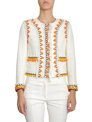 Tory Burch Eleanor Embellished Fringed Jacket