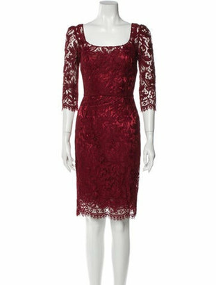 Dolce & Gabbana Lace Pattern Knee-Length Dress