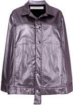 Eckhaus Latta metallic fitted coat