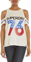 Superdry Americana '76 Cold Shoulder Graphic Tee