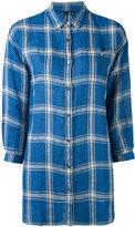 Woolrich checked shirt - women - Linen/Flax - L