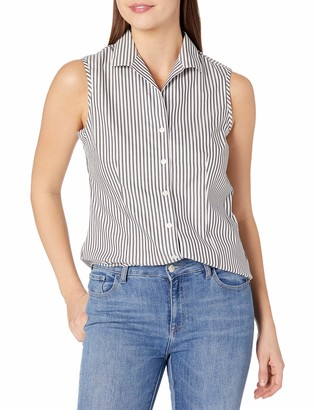 Jones New York Women's Sleeveless Button Up Non Iron Shirt