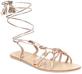 Nanette Lepore Nanette by June Flat Lace-Up Sandals, Only at Macy's