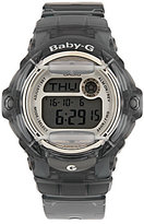 Baby-G Grey Jelly Resin Digital World Time Watch
