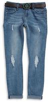 Vigoss Girls 7-16 Little Girls Belted Skinny Jeans