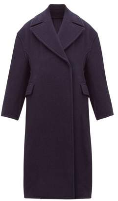 Acne Studios Olalia Double Breasted Wool Blend Coat - Womens - Navy