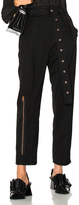 Proenza Schouler Lightweight Wool Suiting Pleated Straight Pant