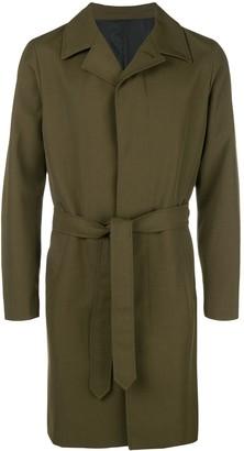 Ami Paris waxed single breasted coat