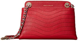 Rebecca Minkoff Mab Wave Double Zip Crossbody (Black) Handbags