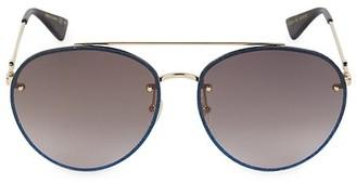 Gucci Core 62MM Aviator Sunglasses