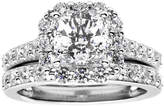 JCPenney FINE JEWELRY 100 Facets by DiamonArt Square Cubic Zirconia Framed Bridal Set