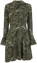 Warehouse Fern Print Babydoll Dress