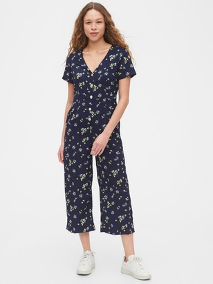 Gap Button-Front Jumpsuit