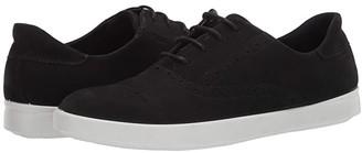 Ecco Barentz Perf Tie (Black Cow Nubuck) Women's Shoes