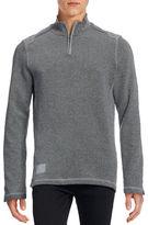 Point Zero Quarter-Zip Ottoman Stitch Sweater