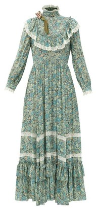 Gucci Liberty-print Crepe Gown - Green Print