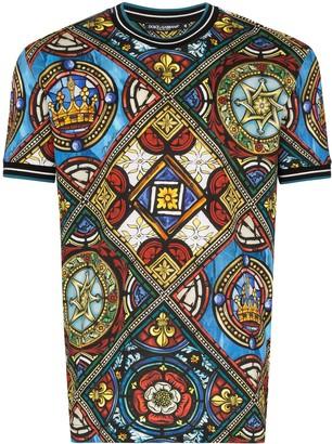 Dolce & Gabbana King's Age printed stretch cotton T-shirt