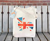 Corgi Ceridwen Hazelchild Design Union Jack Illustration Cotton Tote Bag
