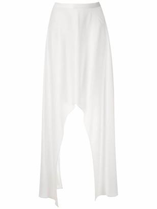 Reinaldo Lourenço Asymmetric Hem Midi Skirt