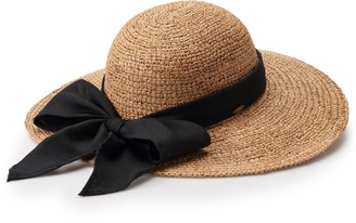 Scala Women's Bow Packable Floppy Hat