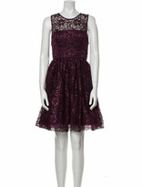 Thumbnail for your product : Alice + Olivia Scoop Neck Mini Dress Purple