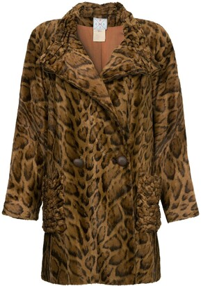 Fendi Pre-Owned Faux Leopard Fur Coat
