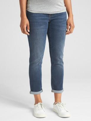 Gap Maternity Soft Wear Demi Panel Girlfriend Jeans