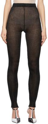 a. roege hove Black Rib Knit Tights