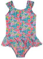 Hula Star 'Rose Tango' Floral Print One-Piece Swimsuit (Toddler Girls & Little Girls)
