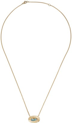 Brooke Gregson 18kt yellow gold diamond oval necklace
