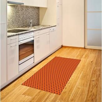 "East Urban Home Classical Tile Orange Area Rug East Urban Home Rug Size: Rectangle 2'7"" x 5'"