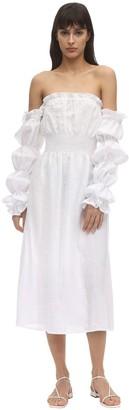 Sleeper Michelin Linen Midi Dress