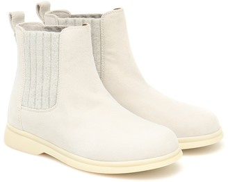 Loro Piana Kids Cocoon suede ankle boots