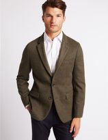 Marks and Spencer Brown Textured Slim Fit Jacket